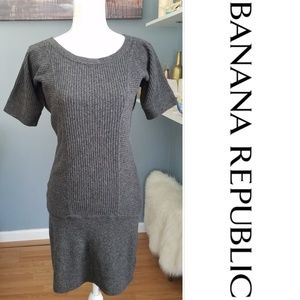 Banana Republic Grey Wool/Cashmere Sweater Dress